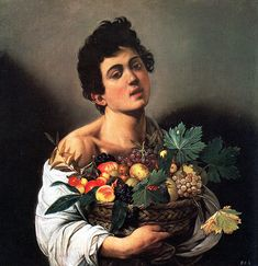Boy with a Basket of Fruit (Caravaggio - 1593)