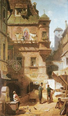 Carl Spitzweg (1808 - 1885) - Art and Science (about 1880)