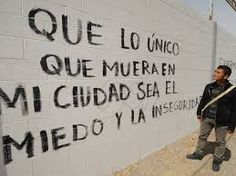 "accion poetica - ""May the only things to die in my city be fear and insecurity"""