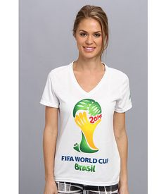 Adidas ultimate world cup brazil v neck tee white 605f8ca0857ee
