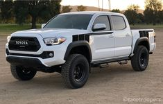 """All black - """"Back To The Future"""" side stripes (front & rear) — Taco Troopers Toyota Tacoma Trd Sport, Toyota 4x4, Toyota Trucks, Toyota 4runner, Toyota Tundra, Ford Pickup Trucks, Lifted Trucks, Chevy Trucks, Big Trucks"""