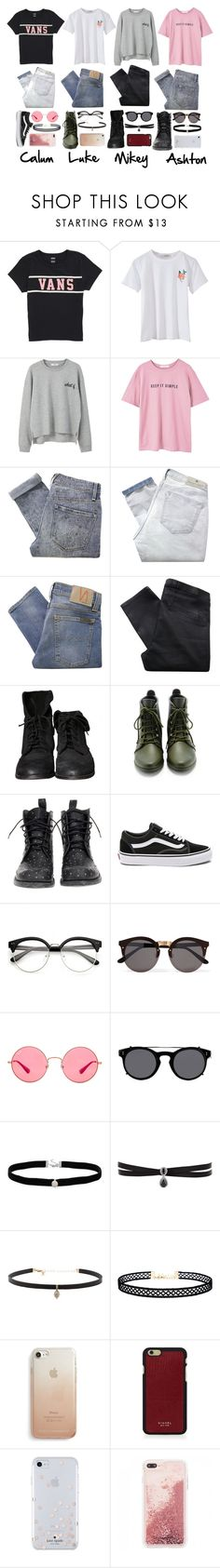 """""""Day out with the boys"""" by xnightelsax ❤ liked on Polyvore featuring Vans, MANGO, Marc by Marc Jacobs, Maison Scotch, Nudie Jeans Co., Helmut Lang, Zara, Loeffler Randall, Mexicana and Illesteva"""