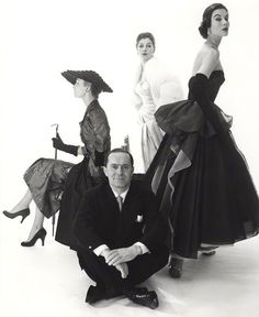 Mytle Crawford(r) and Fiona campbell-Walter(c), photo by Norman Parkinson, 1953