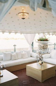 Get inspired by these wedding tent design elements, including chandeliers, hanging flowers and more. Wedding Lounge, Space Wedding, Tent Wedding, Rustic Wedding, Wedding Reception, Lounge Party, Reception Seating, Wedding Church, Marquee Wedding
