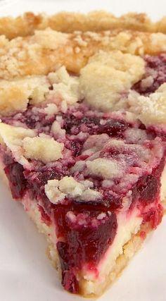 Cranberry Cheesecake Pie looks fantastic!