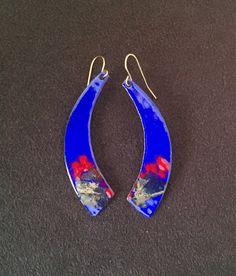 EnamelArt vitreous enamel earrings by madhunt Jewelry