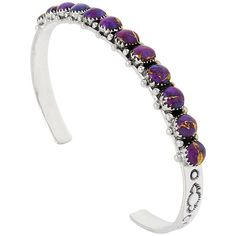 Sterling Silver Bracelet Purple Turquoise B5426-C77