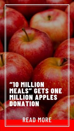 "Million Meals"" gets One Million Apples Donation Save Planet Earth, Save The Planet, People Can Change, One In A Million, Small Groups, Get One, Flow, Campaign, Success"