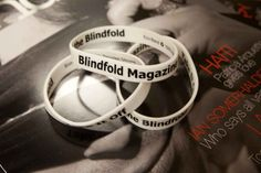 """Purchase in our """"Swag"""" store at blindfoldmag.com #silicone #bands"""