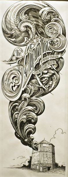 The Arcade Fire Drawing by Aaron Horkey