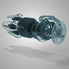 Jet Engine Cutaway by hassan mohamed, via Behance