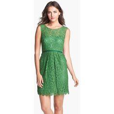 Jenny Yoo 'Harlow' Tea Lace Sheath Dress found on Polyvore