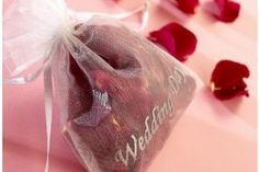 Red rose petal wedding confetti Real Rose Petals, Wedding Confetti, Organza Bags, Red Roses, Red Rose Flower