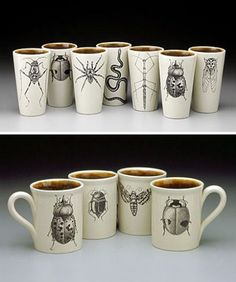 Insect mugs Have always loved her work!