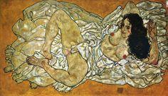 Egon Schiele: Ležící žena