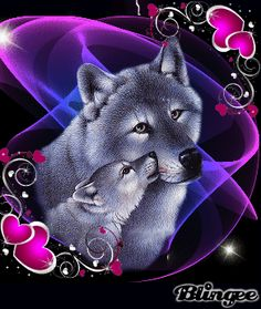 Hallo Freunde,iWolf Painting & Her Pup! Artwork Lobo, Wolf Artwork, Wolf Photos, Wolf Pictures, Wolf Love, Anime Wolf, Beautiful Wolves, Animals Beautiful, Native American Wolf