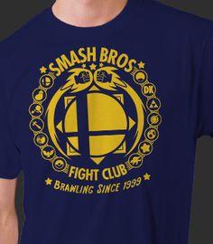 Super Smash Bros Fight Club Games Nitendo 3DS Wii U Gildan Red Black T-Shirt