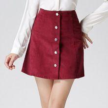 2016 verão vintage moda de alta cintura sexy mini saia curta saia único breasted uma saia de linha preto vermelho branco