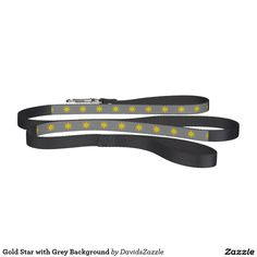 Gold Star with Grey Background Dog Leash This design is available  on many products! Click the link and hit the 'Available On' button near the product description to see them all! Thanks for looking!  @zazzle #star #pattern #decor #home #design #dog #bed #pet #animal #friend #family #accessory #accessories #buy #sale #shop #shopping #owner #fun #sweet #fido #woof #awesome #cool #chic #modern #style #bed #collar #leash #bowl #tag #color #blue #navy #black #purple #orange #grey #gray #gold…