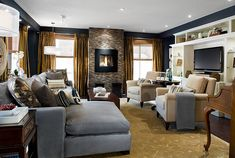 Living Room/Family Room by Candice Olson Divine Design dark tones