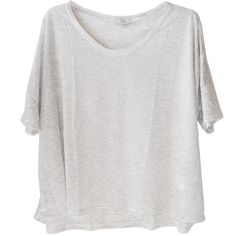 Clu Maille Sweater with Attached Slip Dress in Heather Grey (347.140 CLP) ❤ liked on Polyvore featuring tops, t-shirts, shirts, tees, lace sleeve shirt, heather grey t shirt, crew neck t shirt, lace t shirt and long sleeve shirts