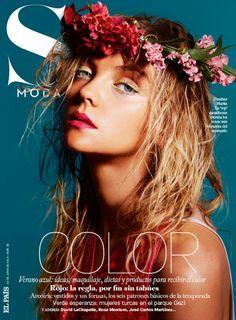 Heather Marks does beach hair and a floral crown for S Moda June 2013 #crown #beachhair