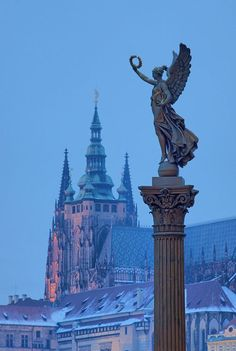 The Statue of Angel, Prague, Czech Republic   Photographer: Tomas Megis