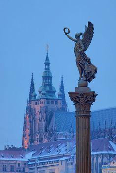 The Statue of Angel, Prague, Czech Republic  Photographer: tomas megis
