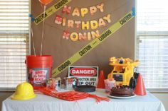 Delighted Momma: Ronin's Construction Themed First Birthday