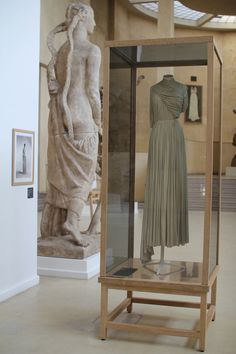 Madame Gres dress at the Musee Bourdelle in Paris- from the exhibition Madame Gres, La Couture A L'Oeuvre