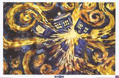 Doctor Who's TARDIS meets Van Gogh's Starry Night in this awesome concept art poster! Fully licensed. Ship fast. 24x36 inches. Take some Time to check out the rest of our great selection of Doctor Who