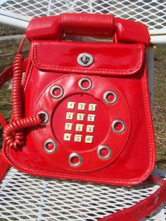 vintage deadstock 1960s working TELEPHONE bag PURSE free shipping