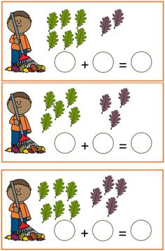 herst rekenen sommen tot 10 Fall Preschool, Preschool Education, Preschool Learning Activities, Autumn Activities, Teaching Math, Preschool Activities, Kids Learning, Logic Math, Kindergarten Math Worksheets