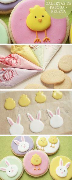 Receta: Cómo hacer galletas de pascua con animales de colores - Recetas en DaWanda.es