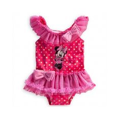 Minnie Mouse Swimsuit for Baby ❤ liked on Polyvore featuring baby girl clothes and kids clothes