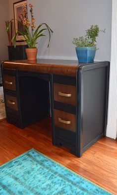 Waterfall desk redo