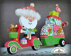 Here Come's Santa Claus Collection from Doodlebug Designs is perfect for home decor, cards, layouts and more!