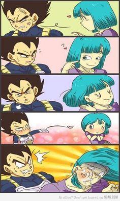 Super Saiyans blow Super Kisses. Hehe. Get it?! :3