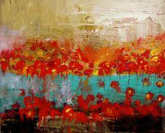 2 poppy fields 16 x 20 canvas w.mcwilliams
