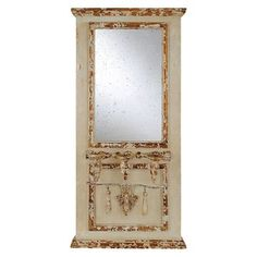 Rectangle Wood Framed Dresser Mirror with 3 Tapered Holders - 3R Studios already viewed