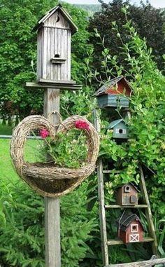 une page riche en inspiration: Nichoirs à oiseaux à faire pour le jardin !