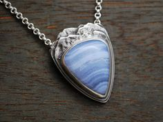 Excuse me while I kiss the sky -Jimi Hendrix  This little breath of fresh mountain air makes the perfect gift for any back packer or mountain Silver Bar Necklace, Sterling Silver Jewelry, Pendant Necklace, Rose Quartz Serenity, Serenity Color, Everyday Necklace, Blue Lace Agate, Silver Bars, Pendants