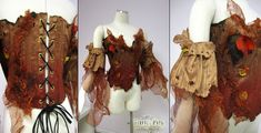 Autumn dryad corset by Firefly Path. I wouldn't have thought fabric could imitate bark so well. Just gives me other options besides leather.