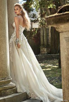 galia lahav fall 2017 bridal strapless sweetheart neckline heavily embroidered bodice tulle skirt romantic sexy a  line wedding dress chapel train (gia) bv