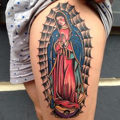 America Latina. #diguila #tattoo #traditionaltattoo #classictattoo #guadalupe #diguila (at Stray Bullet Tattoo)