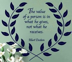 Value of a person quote via Carol's Country Sunshine on Facebook