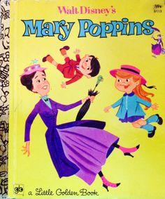 Walt Disney's Mary Poppins Little Golden Book by Lonestarblondie, $5.25