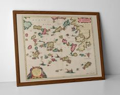 Old Map of Greek Islands, originally created by Willem Janszoon Blaeu, now available as a 'museum quality' wall decor print. Old World Maps, Vintage World Maps, Greek Islands Map, Andros Greece, Historical Maps, Paros, Mykonos, Travel Posters, Giclee Print