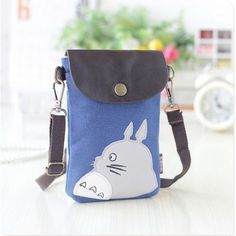 Canvas & PU leather totoro printing children school bags kids messenger travel pouches bag for kindergarten baby girls boys