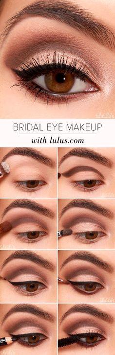 Easy Step by Step Bridal Eye Makeup Tutorial 2017 - Miladies.net